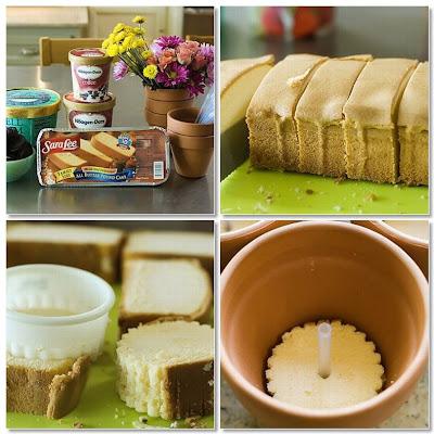 semplicemente perfetto diy party torta fiori gelato