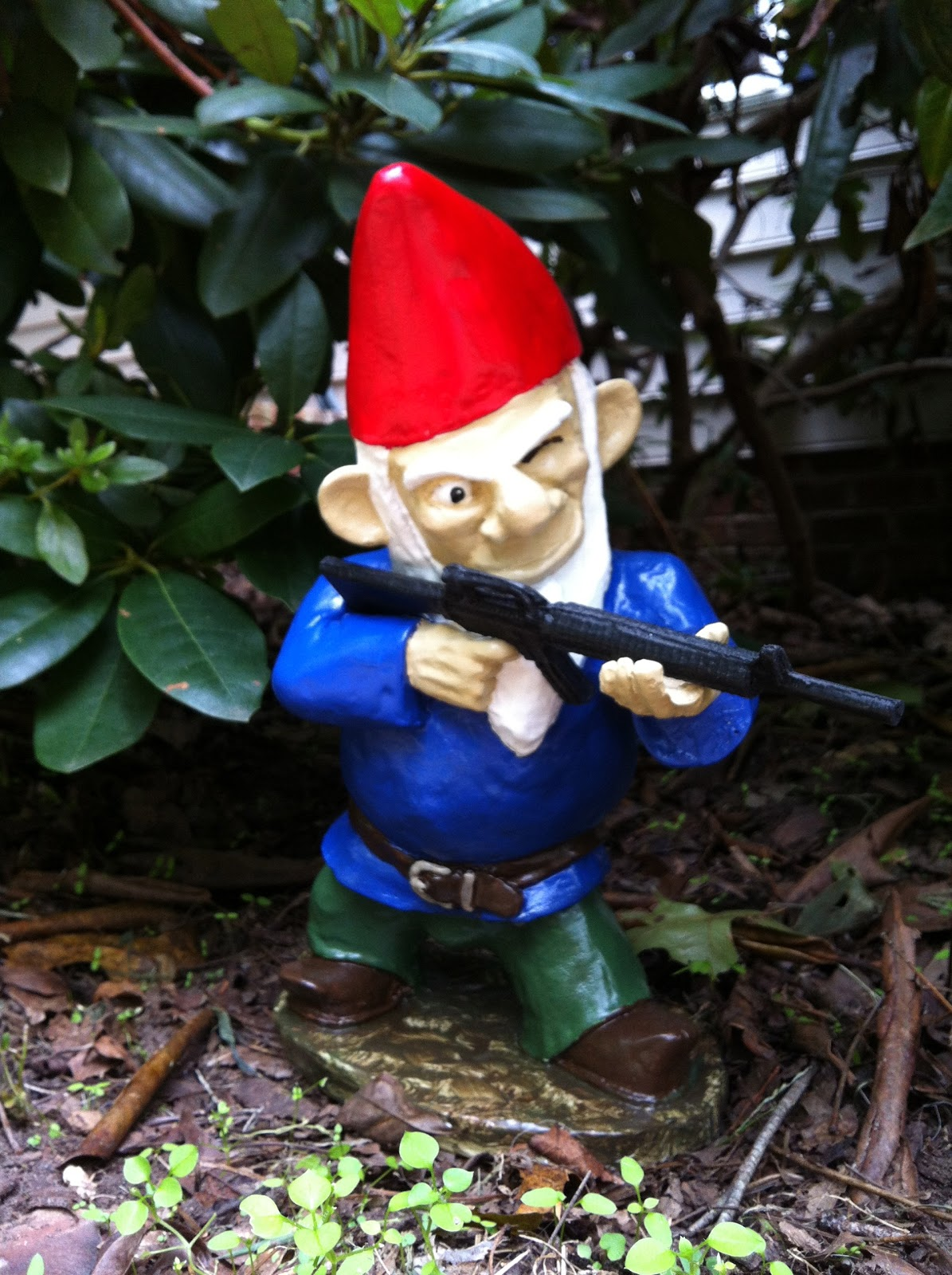 Garden Gnomes With Guns Photograph The Gnomes Are On Patrol