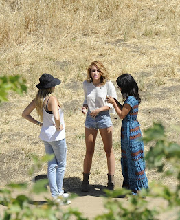 Miley Cyrus with friends in Malibu Photoshoot