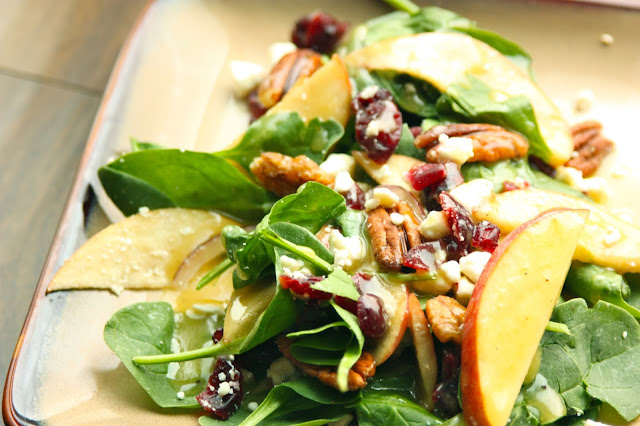 Apple Pecan Spinach Salad