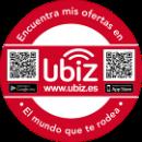 Pegatina Ubiz, Stickers ubiz, adhesivas Ubiz para tu negocio