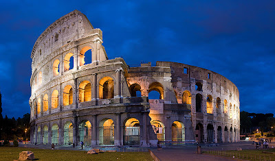 The Colosseum in Rome is considered as one of the wonders of the world