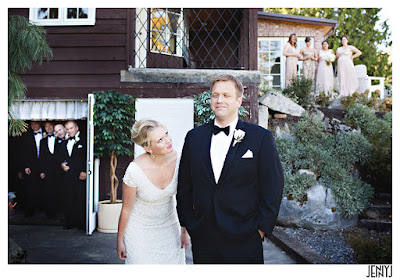 Wedding party watches the bride and groom - Patricia Stimac, Seattle Wedding Officiant