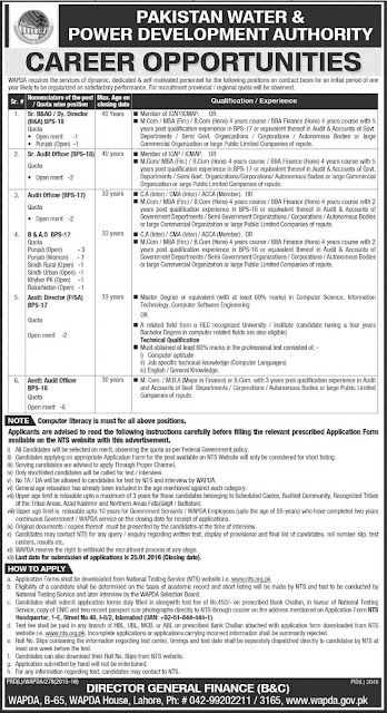 Audit & Accounts Jobs in WAPDA