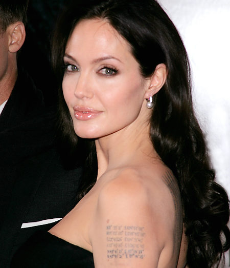 angelina jolie tattoo wallpaper