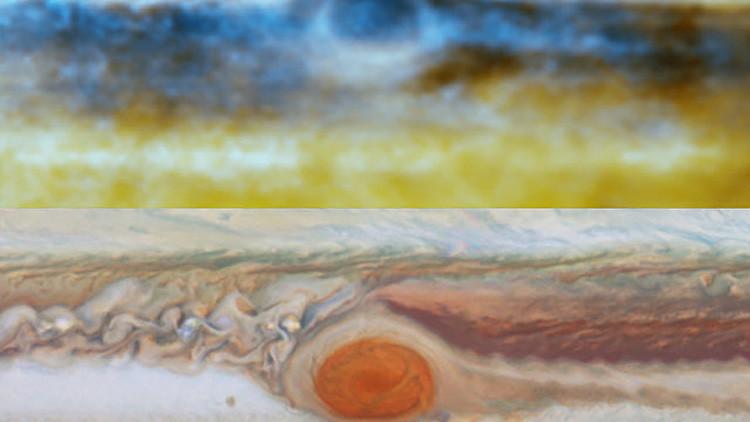 Penetran nubes de Júpiter