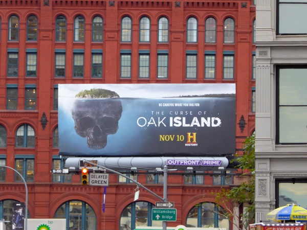 Curse of Oak Island season 3 billboard NYC