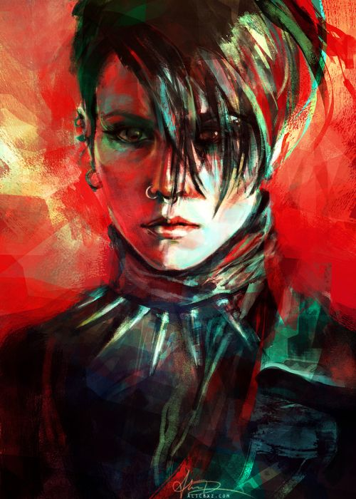 Alice X. Zhang alicexz deviantart pinturas de filmes séries Lisbeth Salander (Noomi Rapace) - Millennium: The Girl with the Dragon Tattoo