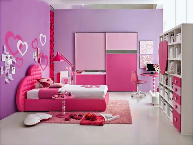 pink purple color teenage bedroom ideas for girls