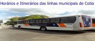 Horários e Itinerários do transporte municipais de Cotia