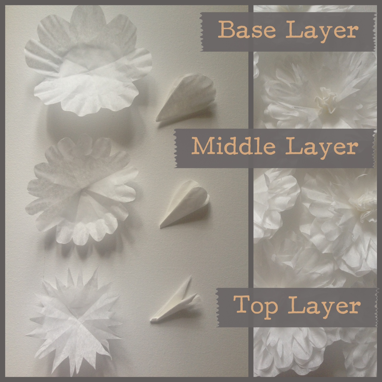 Pancakes Glue Guns Diy Paper Flower Wall Take 2 Part 1