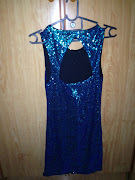 Shiny Blue Dress. Price: $20. Size: XS. Colour: Shimmery Blue