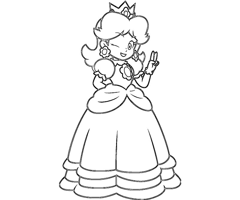 Printable Colouring Pages Princess Daisy on monster house plans designs