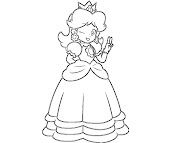 #12 Princess Daisy Coloring Page