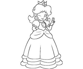 #12 Princess Daisy Coloring Page