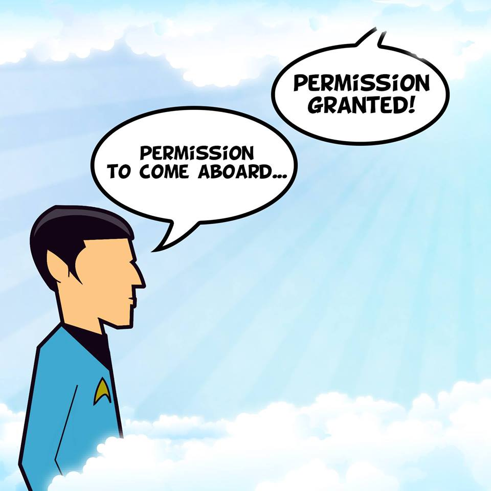 Permission to come aboard.