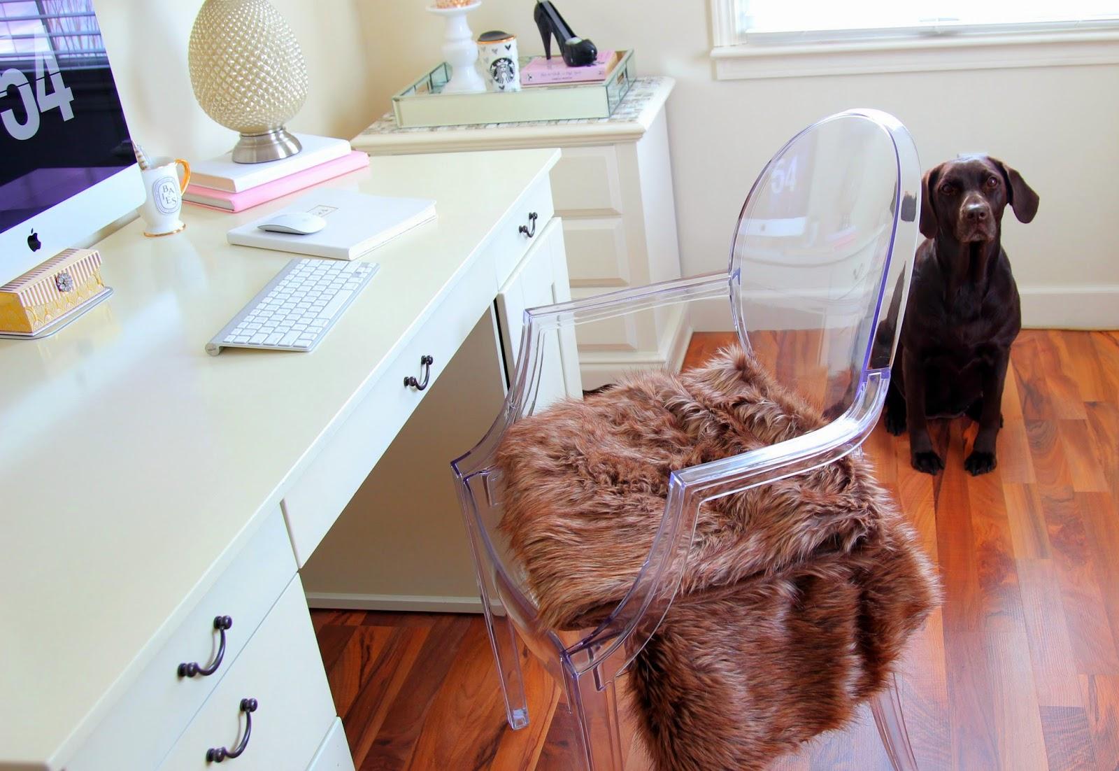 Desk Tour - Desk Organization - Girly Office - Girly Decor - Home Office