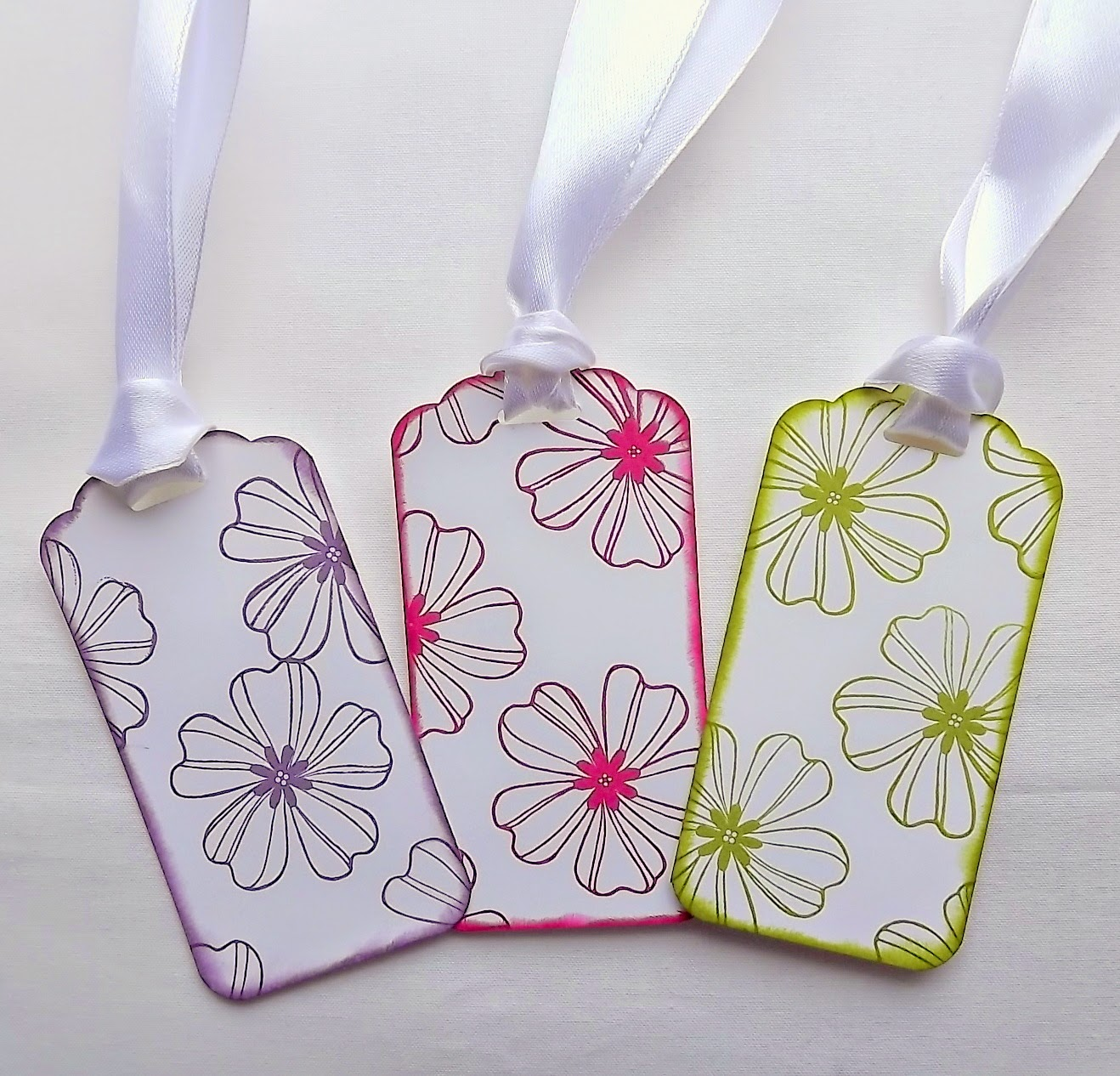 Stampin Up! Flower Shop and Scalloped Tag Topper