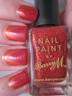 Barry-M-Blood-Red-Glitter-Gelly-Nails-Inc-art-chevrons
