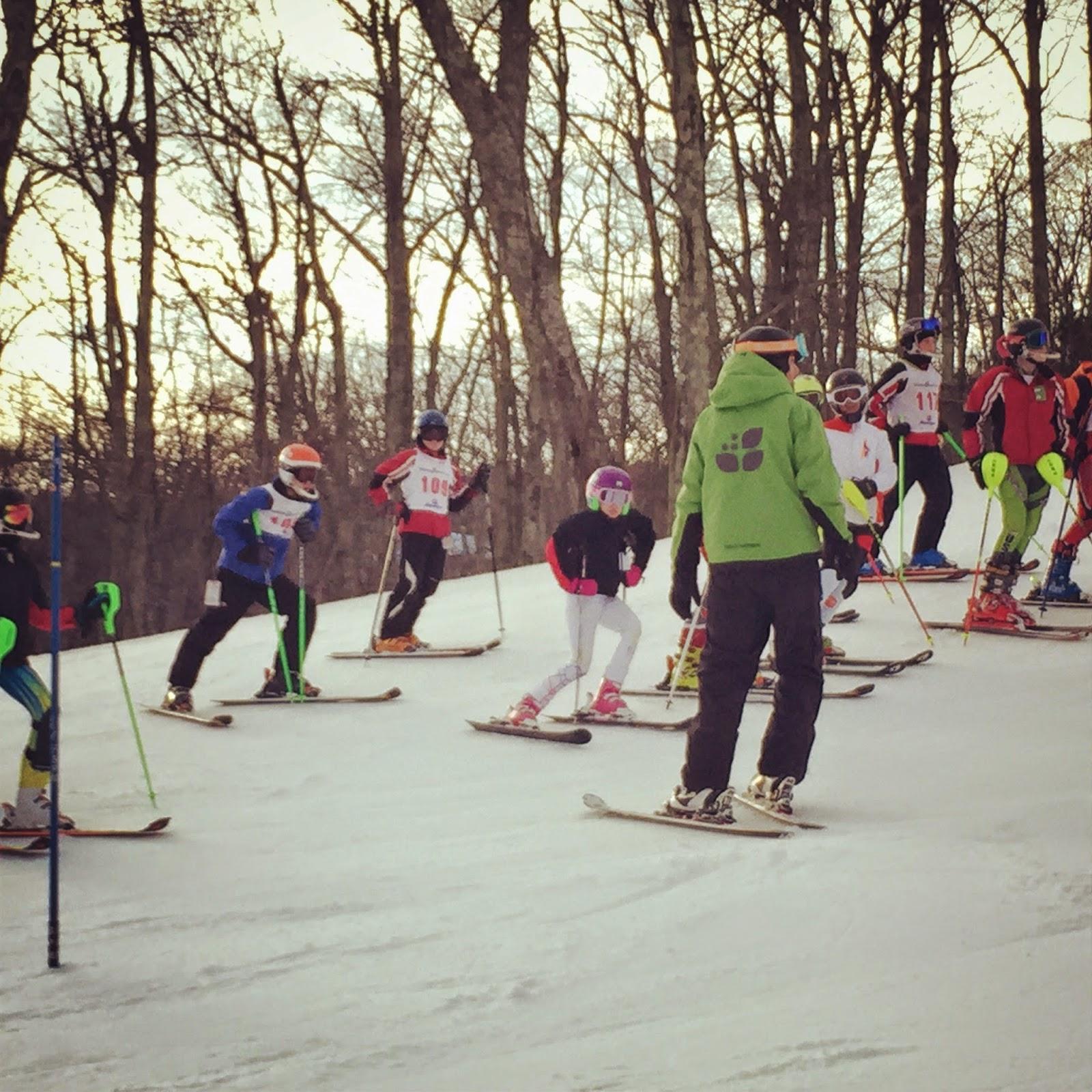 wintergreen resort, wintergreen ski race, ski team, racing, SARA