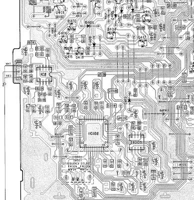 SONY XR -1953 монтажная схема
