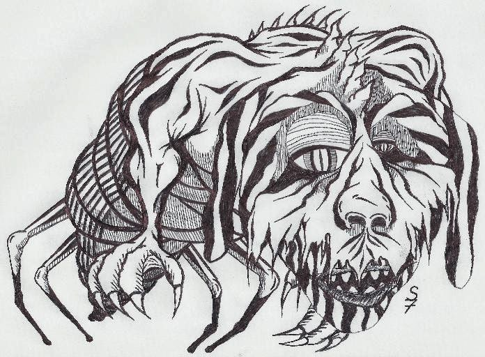 Line Drawing Monster : Samwise rpg a bunch of weird monster drawings
