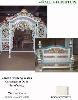 Contoh Furniture Finising Duco Kombinasi Warna