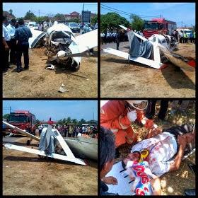 Pesawat Ringan Terhempas Di Kelantan