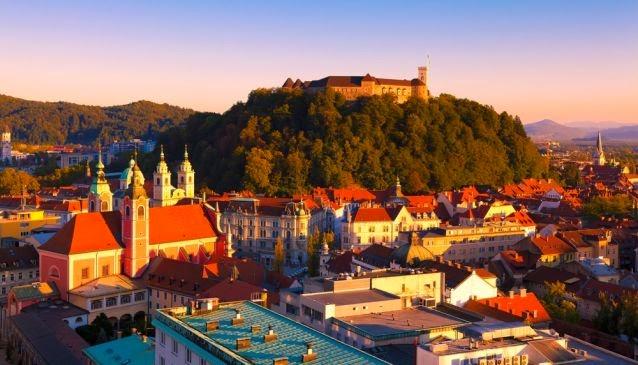 Ljubljana, hovedstaden i Slovenien