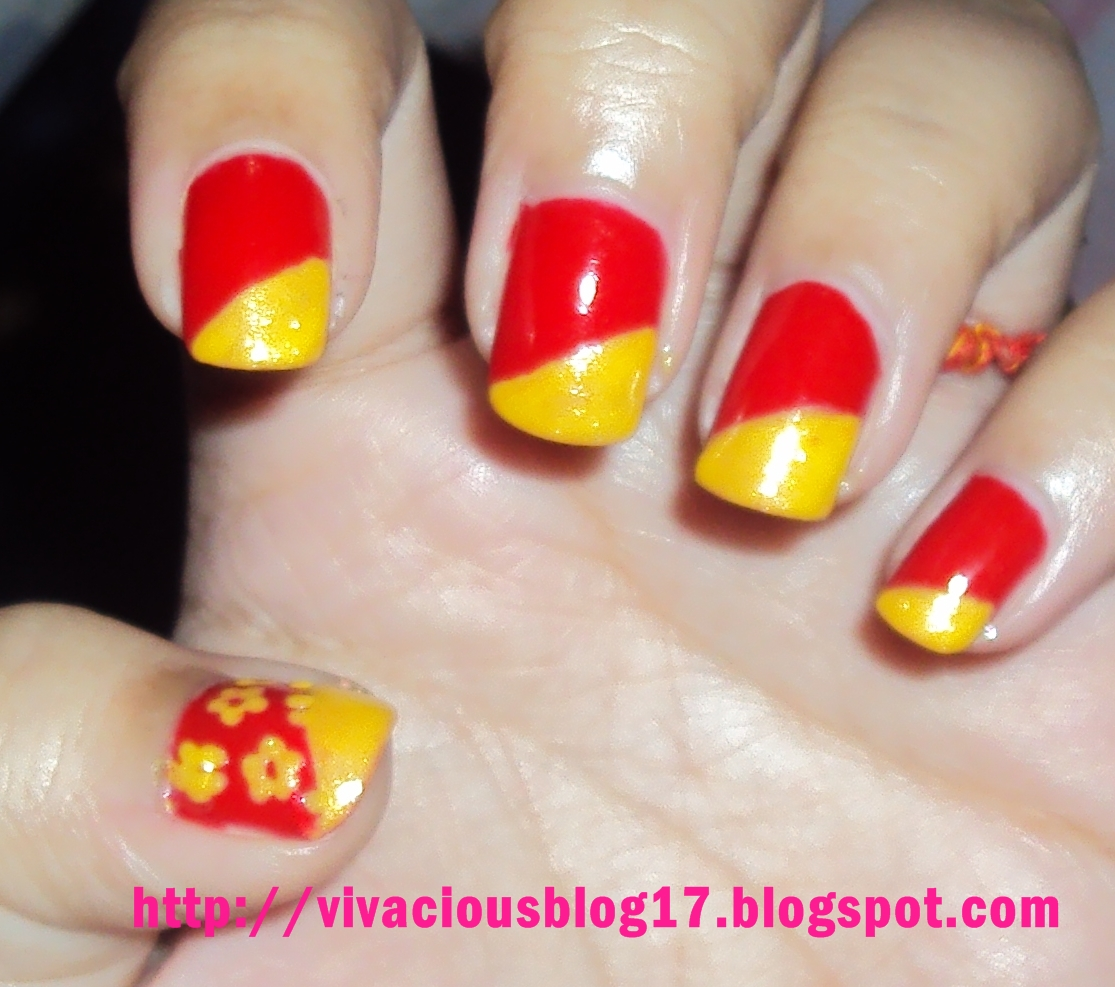 ... of my nails with yellow nail paint the yellow nail paint is shimmery