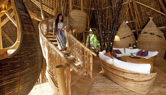 Bamboo Houses of Green Village in Bali