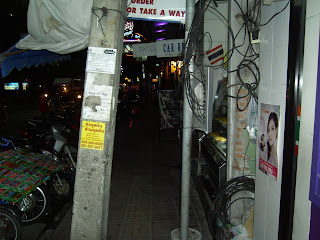 Pattaya beach road is an obsticle course, not suiable for disabled people