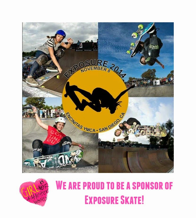 abee58b07e Stoked to share that Girl is NOT a 4 Letter Word is now a proud sponsor of  EXPOSURE  A Women s Skateboarding Benefit Event .
