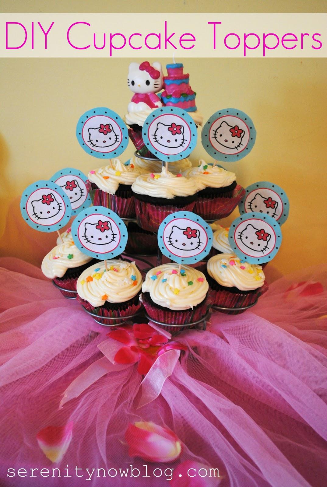 DIY Cupcake Toppers Craft Tutorial