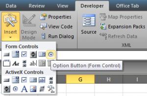 cara 2 Penomoran Dengan OPTION BUTTON pada Excel