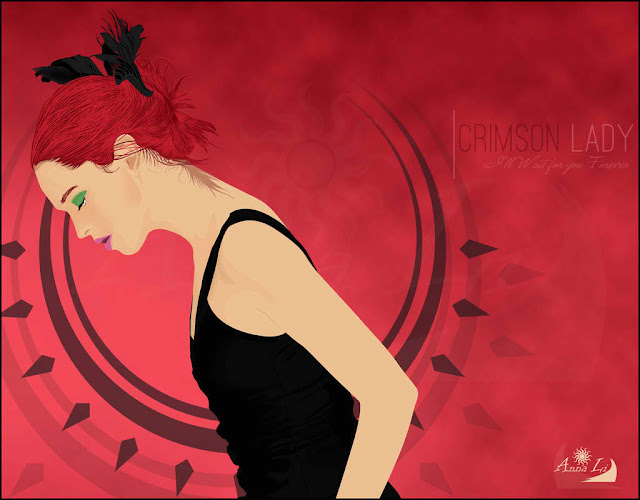 "Art Li and Stuff - ""Crimson Lady"" - Anna Li on Deviant Art"