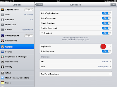 Keyboard smiley settings