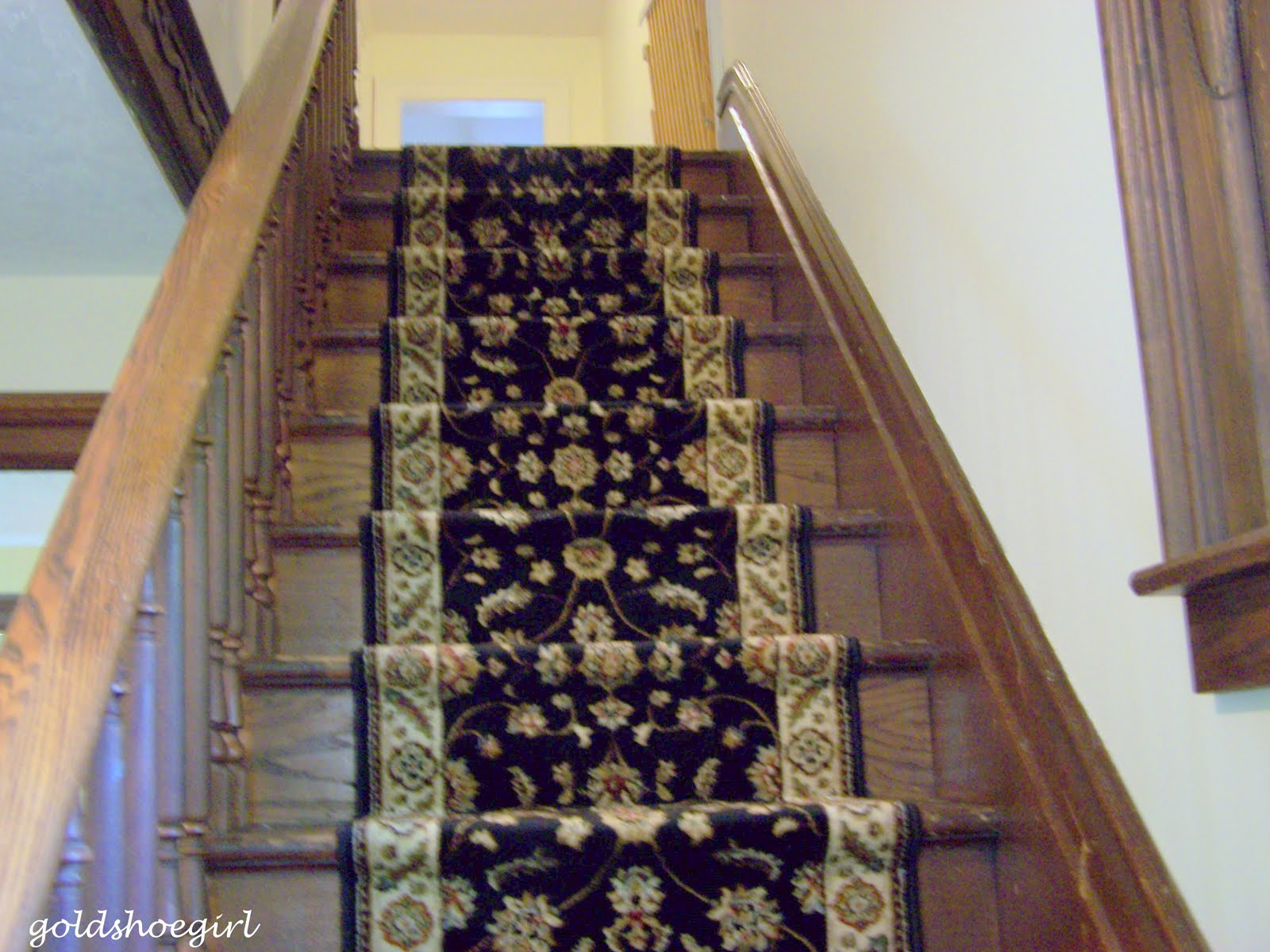 Gold Shoe Girl Installing A Stair Runner