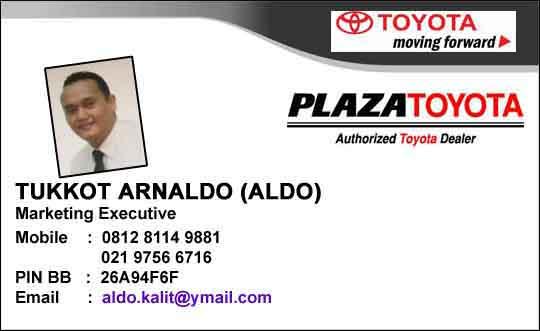 Sales Dealer Plaza Toyota Jakarta Barat