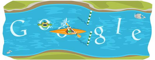 Google Doodles - Olympic Slalom Canoe 2012