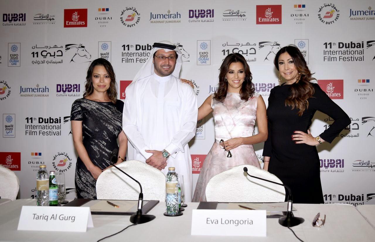 صور إيفا لونغوريا خلال حضورها مهرجان دبي السينمائي 2014