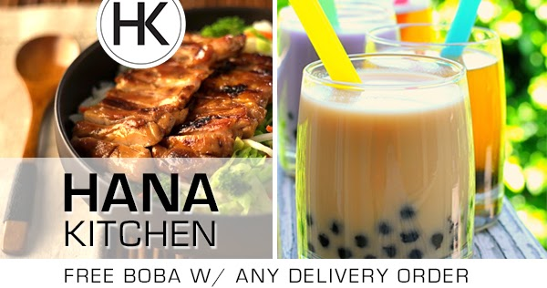 Sbmenus Com Free Boba Tea W Delivery Order At Hana Kitchen