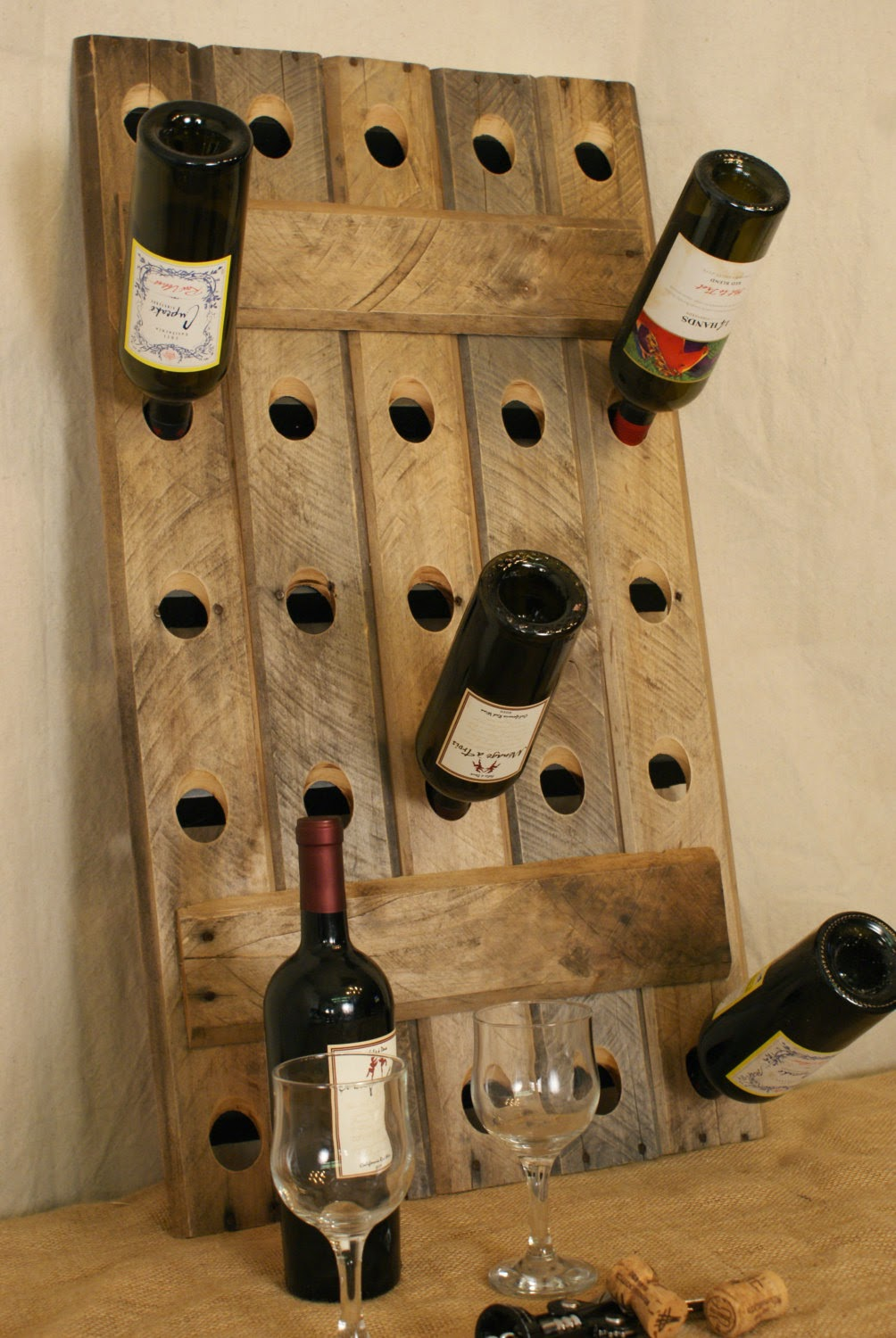 How to recycle recycled wine rack designs