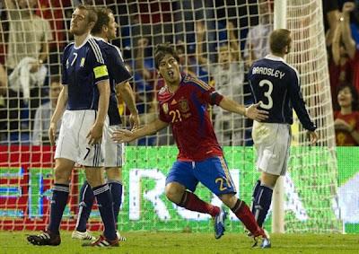 Spain 3 - 1 Scotland