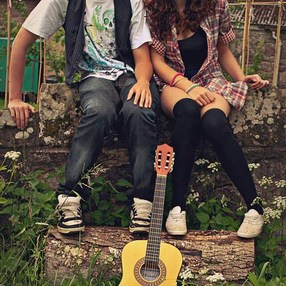 Love couple Guitar Wallpaper : couple, with, guitar, beautiful, lovers, fashion 4loveimages