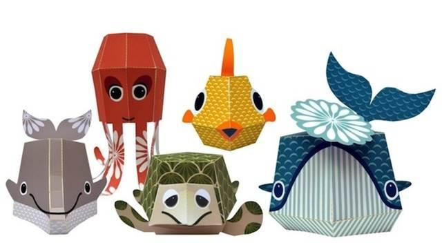 koleksi patung haiwan kertas keluaran mibo