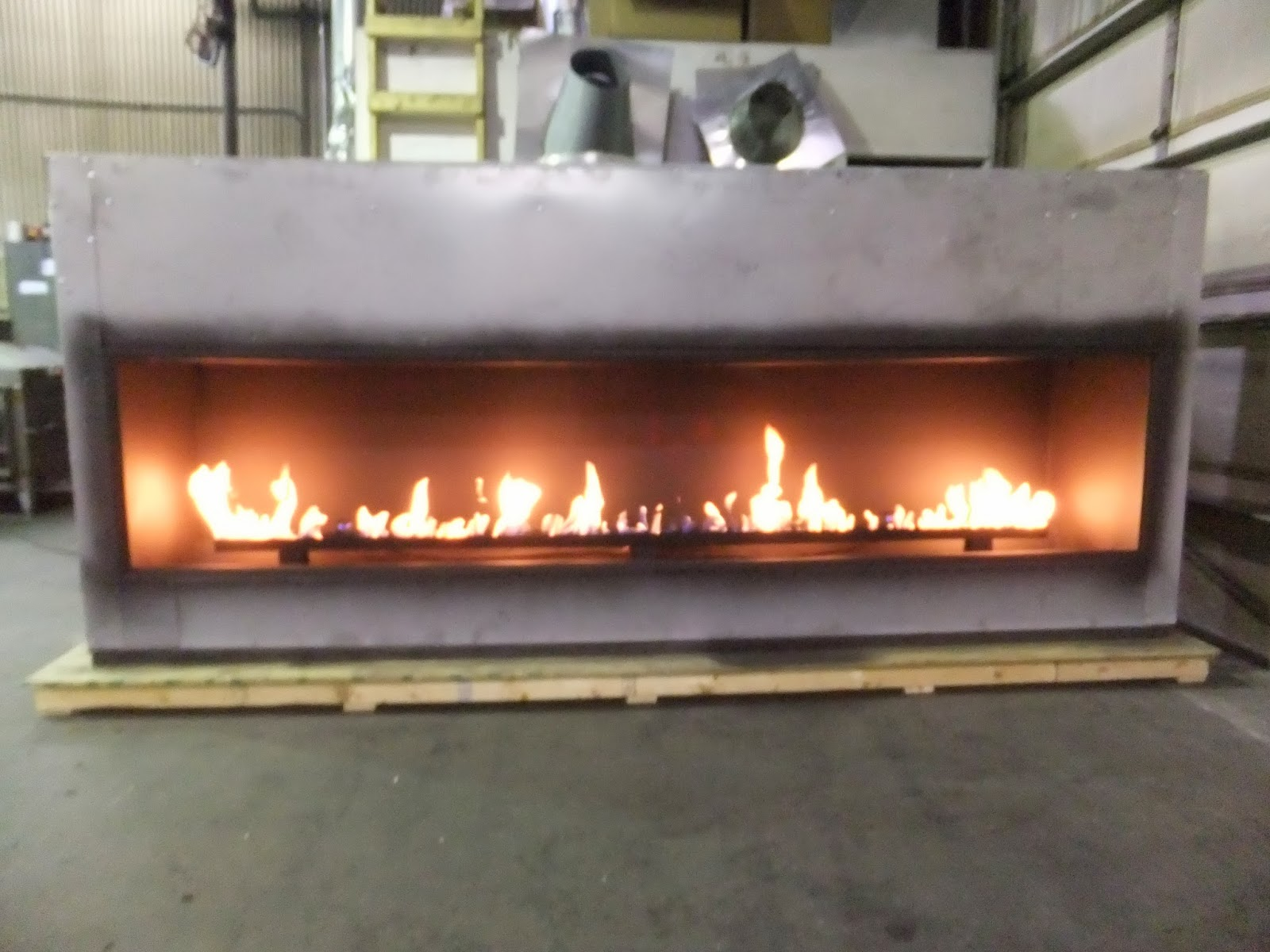 acucraft fireplaces linear gas fireplace blaze 10