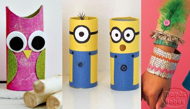 Manualidades con rollos de papel - Papel decorado para manualidades ...