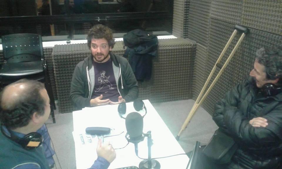 Con Octavio Martín y Manuel Vila