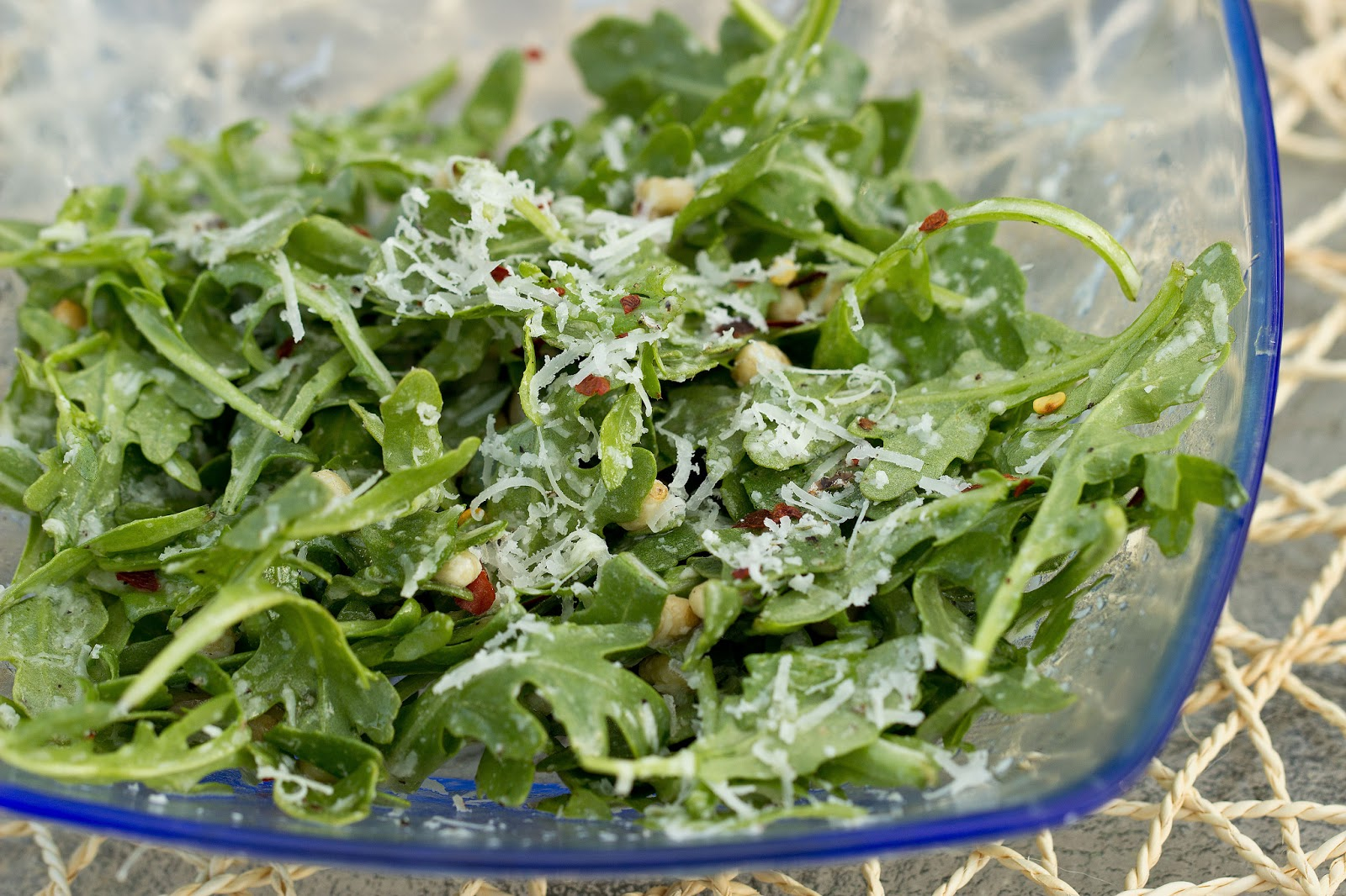 7 Oz Bag Of Baby Arugula 2 Oz Block Of Manchego Cheese About 1 3 Cup Shredded 1 4 Cup Pine Nuts 1 4 Cup Of Good Olive Oil